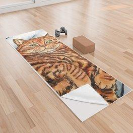 Ginger Cat Yoga Towel