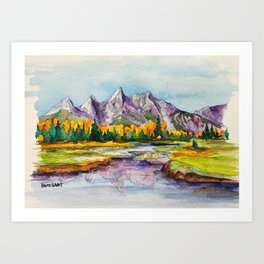 Grand Teton National Park Art Print