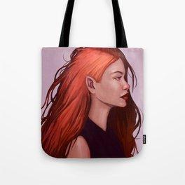 Red Hair Tote Bag
