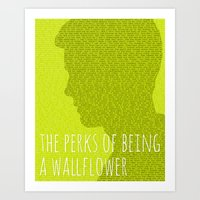 the perks of being a wallflower Art Prints featuring The Perks of Being a Wallflower by Justified