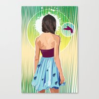 gorillaz Canvas Prints featuring Humming Bird by Matt Fontaine Creative