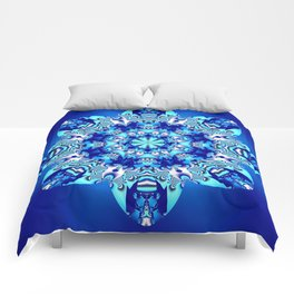 The blue snowflake Comforters