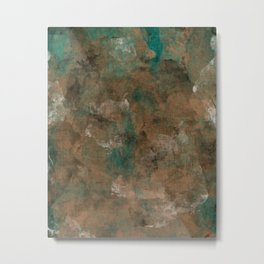 Patina Copper Metal Print