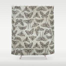 Lepidoptera Beige Shower Curtain