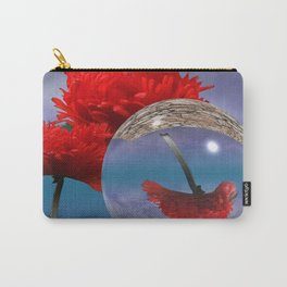 poppy and crystal ball - refraction of light Carry-All Pouch