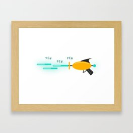 Pew Pew Pew - Laser gun Framed Art Print