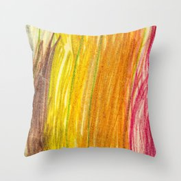 Lovely Colores Lightroom Wax Colors Throw Pillow