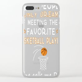 BASKETBALL DAD Clear iPhone Case