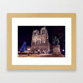Joyeux Noël à Paris // Merry Christmas from Paris Framed Art Print