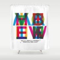 """ghostbusters Shower Curtains featuring Ghostbusters """"tell him about the twinkie"""" by Jan Wurtmann"""
