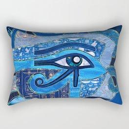 Egyptian Eye of Horus - Wadjet - Mixed Textures Rectangular Pillow