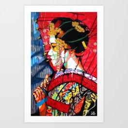 American Geisha Kunstdrucke