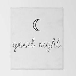 Good Night Throw Blanket