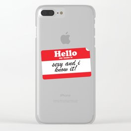 Hello My name is... Clear iPhone Case