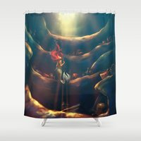 wicked Shower Curtains featuring Someday by Alice X. Zhang