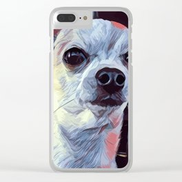 Pop Art portrait Bobby Dog Clear iPhone Case