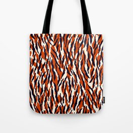 Zebra animal pattern in orange, black and light cream Tote Bag