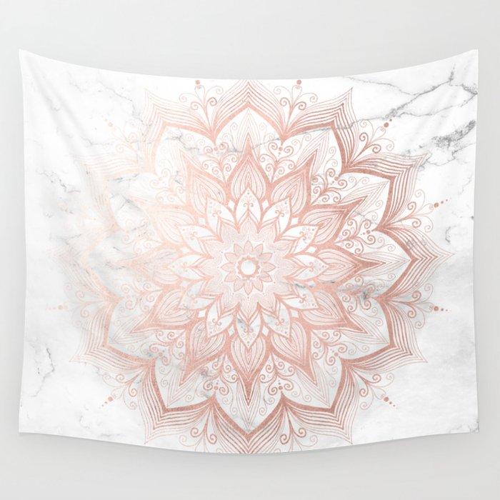 Imagination Rose Gold Wall Tapestry By Mermaidandunicorn