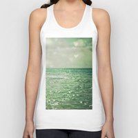 mint Tank Tops featuring Sea of Happiness by Olivia Joy StClaire