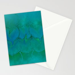 Mermaid Scales Green and Blue Stationery Cards