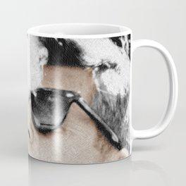 John F Kennedy Cigar and Sunglasses 3 And Quote Coffee Mug