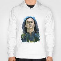 loki Hoodies featuring Loki by OnaVonVerdoux