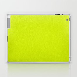 Lime green leather texture Laptop & iPad Skin