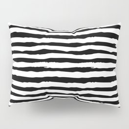Abstract black ink lines Pillow Sham