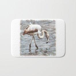 Knee Deep Flamingo Watercolor Bath Mat