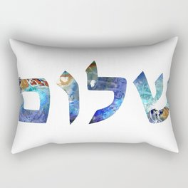 Jewish Symbol Art Shalom 26 - Sharon Cummings Rectangular Pillow