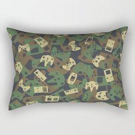 Gamer Camo WOODLAND Rectangular Pillow