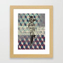 cut.paste.destroy Framed Art Print
