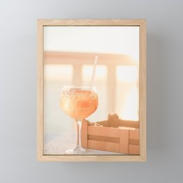 211B. Cocktail Time, Santorini, Greece Framed Mini Art Print