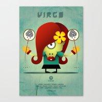 virgo Canvas Prints featuring VIRGO by Angelo Cerantola