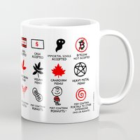 gemma Mugs featuring Decoding Your Menu by gemma correll