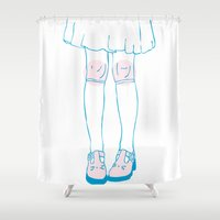 lolita Shower Curtains featuring Lolita by Grace Teaney Art