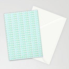 White hen on blue sky Stationery Cards