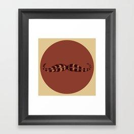 Feather Mustache Framed Art Print