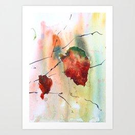 Autumn leaf 2 Art Print