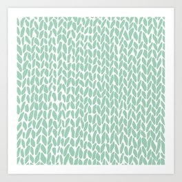Hand Knit Zoom Mint Art Print