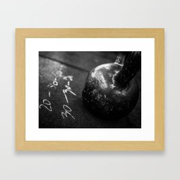 Workout of the Day Framed Art Print