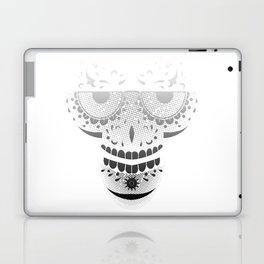 Sugar Skull - Day of the dead bw Laptop & iPad Skin