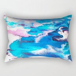 Turuoise Flow Rectangular Pillow