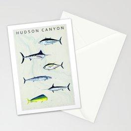 Predators of the Atlantic - Hudson Canyon Bathymetry Stationery Cards
