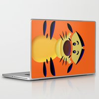 cartoons Laptop & iPad Skins featuring Cute Orange Cartoons Tiger Apple iPhone 4 4s 5 5s 5c, ipod, ipad, pillow case and tshirt by Three Second
