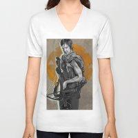 daryl dixon V-neck T-shirts featuring Daryl Dixon by Yan Ramirez