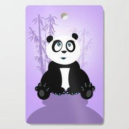 Panda Girl - Purple Cutting Board