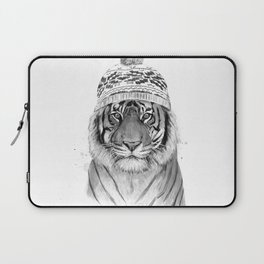 Siberian tiger (b&w) Laptop Sleeve