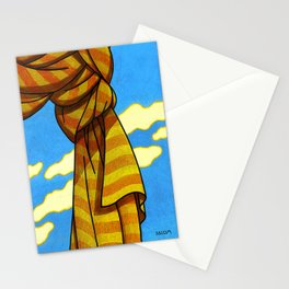 Gathered curtain Stationery Cards
