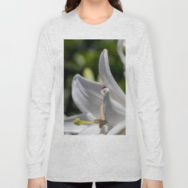 Red insect smiling on a lily Long Sleeve T-shirt